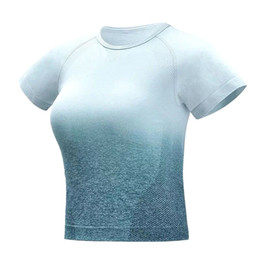 $enCountryForm.capitalKeyWord UK - Women Fitness Tops Gradient Color Breathable Quick Dry Slim Fit Crop Shirts for Yoga C55K Sale