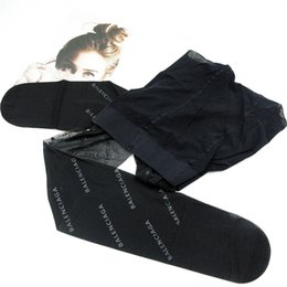 Großhandel Einfacher Brief gedruckte Frauen Strumpfhosen Art und Weise reizvolle transparente Dame Stocking Diskothek Elastic klassische weibliche Lange Strümpfe