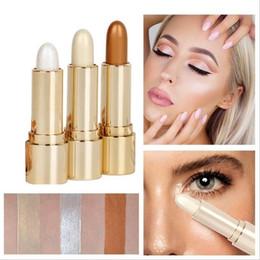 $enCountryForm.capitalKeyWord Australia - DNM Brighten Stick Shimmer Long Lasting Easy To Wear Silkworm Pen Bronzer Makeup Concealer Cream Eyes