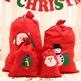 $enCountryForm.capitalKeyWord NZ - Cute Drawstring Christmas Gift Bag Non-woven Backpack Kids Banquet Xmas Gifts Candy Holder Organizer Home Party Christmas Decorations