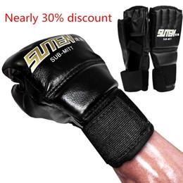$enCountryForm.capitalKeyWord Australia - Pu Half Mittens Gloves Tactical Leather Boxing Gloves Sport Men Finger Muay Thai Gloves Kick Boxing Training Boxing