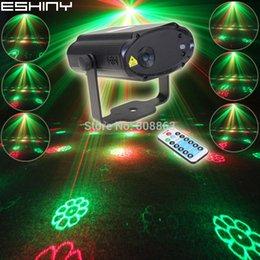 ambiente ESHINY Mini RG Laser 12 modelli del proiettore di Natale Dance Disco Bar Xmas Party DJ della fase di illuminazione Light Show T19 in Offerta