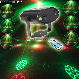 ESHINY Mini R&G Laser 12 Christmas Patterns Projector Dance Disco Bar Party Xmas Stage DJ environment lighting Light Show T19