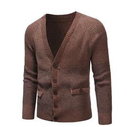 $enCountryForm.capitalKeyWord Australia - New Brand Sweater Men V-neck Solid Slim Fit Knitting Mens Sweaters Cardigan Male 2019 Autumn Fashion Casual Tops Hots