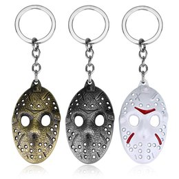 $enCountryForm.capitalKeyWord UK - Movie Black Friday Mask Cosplay Keychain Vintage Metal The 13th Character Jason Voorhees Hemlet Statement Necklace Jewelry