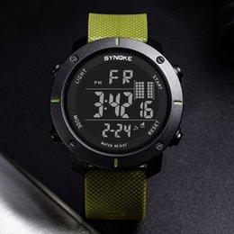 $enCountryForm.capitalKeyWord NZ - Digital Watch Men Multi-Function Buckle Wrist Watch LED Digital Double Action Fashion Casual PU Plastic Strap Round Reloj