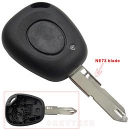 $enCountryForm.capitalKeyWord NZ - Remote Control car Key Case Shell For Renault Megane Scenic Laguna Espace Clio 1 Button Uncut Ne73 Blade Replacement Car Cover