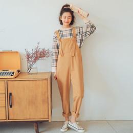 10ba4dc046b Women Jumpsuits 2019 Plus Size Korean Fashion Preppy Style Adjust Strap  Casual Loose Rompers Womens Jumpsuit Female Overalls