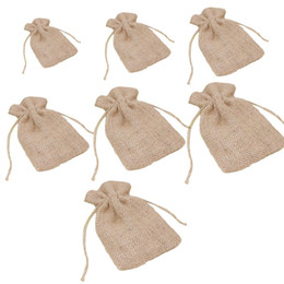 $enCountryForm.capitalKeyWord NZ - Drawstring Bag Linen Pouches Gift Bags for Wedding Favors DIY Craft Present Snacks For Women Girls