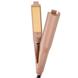 $enCountryForm.capitalKeyWord Australia - 2 In 1 Hair curling iron gold hair straighteners plywood roll straight wet and dry dual-use mini ceramic hair styling tools