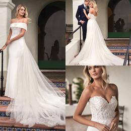 $enCountryForm.capitalKeyWord Australia - Gorgeous Sleeveless 2019 Wedding Dresses With Removable Skirt Elegant Sweetheart Neckline Wedding Gowns Lace Applique Plus Size bridal Gown