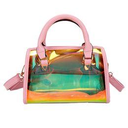 $enCountryForm.capitalKeyWord UK - 2019 HOT Sale Women Transparent Bag Clear PVC Jelly Small Shell Bag Handbag Laser Holographic Shoulder Bags Female Lady #4