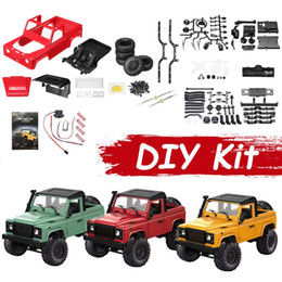 $enCountryForm.capitalKeyWord NZ - RC Car DIY Kit D90 1 12 2.4G 4WD Off-road Military Truck Buggy Kids Remote Toy Model Colors Plastic Metal Crawler Parts Crawler