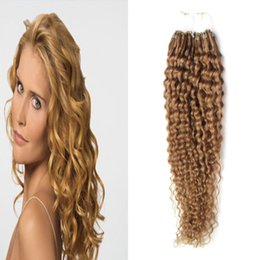 micro ring hair extensions 22 2019 - kinky curly micro loop hair Micro Ring Hair Extensions 1g Stand unprocessed virgin brazilian curly wave micro loop ring
