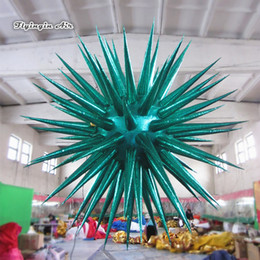 $enCountryForm.capitalKeyWord Australia - Customized Concert Venue Ceiling Decorative Hanging Inflatable Planet 2m Diameter Lighting Thorn Star Balloon For Night Club Party Supplies