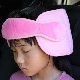 Kids Car Seat Belt Australia - Safety Child Kids Head Support Holder Protector Belt Car Seat Sleep Nap Aid Soft Plush Cotton Automobiles Accessories