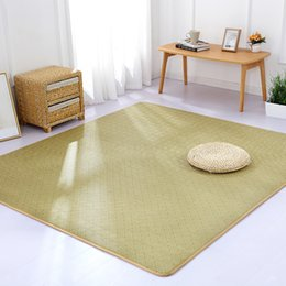 room sized rugs 2020 - Japanese style summer tatami carpet living room bedroom area rugs for kids play rattan mat children crawling mat large s