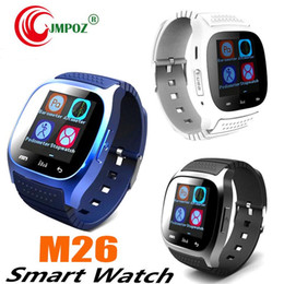$enCountryForm.capitalKeyWord Australia - Smart Bluetooth Watch Smartwatch M26 with LED Display Barometer Alitmeter Music Player Pedometer for Android IOS Mobile Phone with retail DH