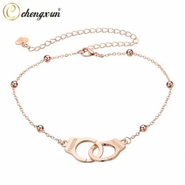 Best woman foots online shopping - CHENGXUN Handcuff Partners in Crime BFF Best Friends Forever Anklet Bracelet Chain for Girl Foot Jewelry Boho Beach Heart Wafer