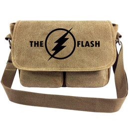 $enCountryForm.capitalKeyWord NZ - The flash messenger bag Super hero sling case Barry Allen satchels Sport canvas urick Single shoulder pack Outdoor haversack