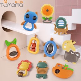 baby jingle bell toy NZ - Tumama 4~11pcs Music Bed Hand Hold Jingle Shaking Plastic Animal Rattles Baby Toys 0-12 Months Bell Q190604