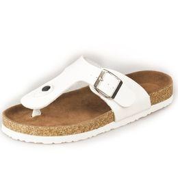 China 2019 Summer Couples Cork Flipflops Clip Toe Platform Beach Slippers Buckle Belt Casual Women Big Size 36-43 supplier leather belt clips suppliers