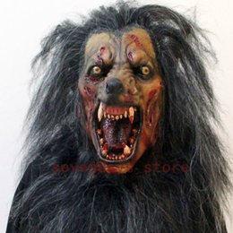 Discount werewolf cosplay - New wolf mask werewolf mask cosplay animal head halloween costume zombi horror werewolf creepy crawly dracula