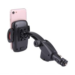 port mount Australia - 2 USB Ports Car Cigarette Lighter Charger Mount Phone Holder for Vehicle Smartphone Car Styling
