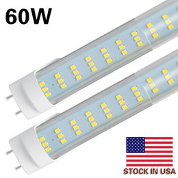 China 4-25pcs LED Light Tubes 4FT 60W ,Flat 3 Row 288pcs LED Chips,LED Replacement Bulbs for 4 Foot Fluorescent Fixture,Warehouse Shop Light suppliers