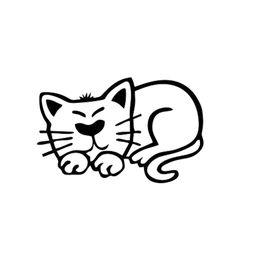 Body Figures Australia - Lazy Cat Figure Sticker Car Decal Sticker for Car Bumper Door Body Vinyl Decor Lovely Humour