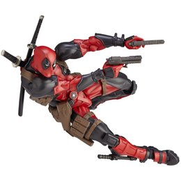 bleach figures UK - Crazy Toys Deadpool Original Play Arts Change Head PVC Action Figures Collection Model Toys Birthday Gift