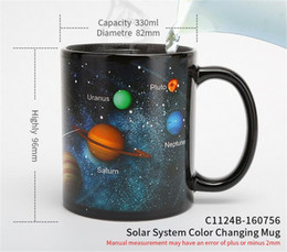 Solar ceramicS online shopping - New Bar Ceramic Cups Changing Color Mug Milk Coffee Mugs Friends Gifts Student Breakfast Cup Star Solar System Mugs