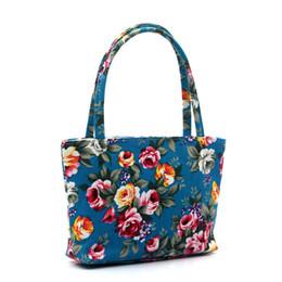 Ladies Handbag Fabric NZ - Cheap Cartoon Owl flower Printed Shoulder Bag Women Shopping Bag Canvas Beach Bag Ladies Messenger Handbag