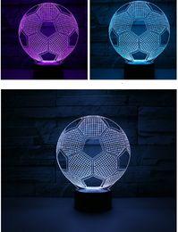 Ingrosso 2019 new rainbow football USB luce 3D acrilico luce notturna romanzo Jane casa pratica diversità di colori