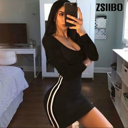 tight stretch dresses Australia - ZSIIBO Casual Tight Dress Women Fashion Sexy Stretch Slim Dresses Ladies Summer Striped Tank Mini Dress Plus Size Vestidos