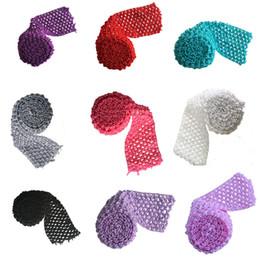"Crochet Ribbon Baby Headband UK - 2.75"" Crochet Headband Trim Ribbon Rolls Boutique For Baby Girl Tutu Skirt Waistband by Meters Girls Flower Headbands DIY Craft Tutu Supply"