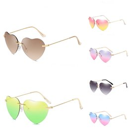 round shaped sun glasses Canada - Children Sun Flower Heart-Shaped Sunglasee Cute Sunglass Lovely Round Candy Color Glasses Baby Girls Uv400 #85524