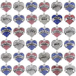 $enCountryForm.capitalKeyWord Australia - Mother Day Best Gift Mom Daughter Sister Grandma Nana Aunt Family Necklace Crystal Heart Pendant Rhinestone Women Jewelry CNY1075