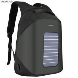 $enCountryForm.capitalKeyWord Australia - Solar Panel Power Backpack External USB Charge Bag Large Capacity Business Travel Anti-theft Waterproof Laptop Backpack