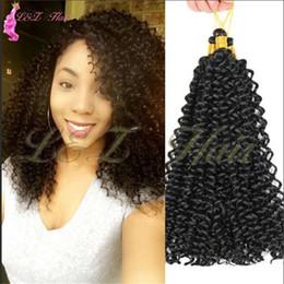 Afro Hair Extensions Bundles Australia - Braiding Hair Extensions Water Wave Braids Blonde 613 Bundles Freetress Afro Synthetic kinky Twist Crochet Hair Bulk