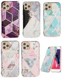 Discount plate fittings - Marble Soft TPU IMD Case For Samsung S10 S10e A10 A20 A40 A50 A70 A20E A10S A50S Plating Pineapple Luxury Hybrid Rock Ch