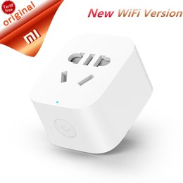 $enCountryForm.capitalKeyWord UK - Cheap International Plug Adaptor Original Xiaomi Mijia Smart WiFi Socket Plug Wireless Remote Socket Adapter Power On and Off With Phone App
