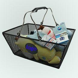 $enCountryForm.capitalKeyWord NZ - Modern Farmhouse Metal Wire Storage Organizer Bin Basket with Handles for Kitchen Cabinets, Pantry, Closets, Bedrooms, Bathrooms