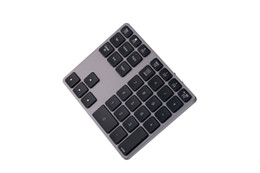 usb numeric keypad for laptop NZ - High quality Aluminum Alloy Bluetooth Wireless Numeric Keypad with USB HUB Digital Input Function for Windows,Mac OS,Android laptop PC