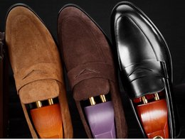 $enCountryForm.capitalKeyWord Australia - New Arrival Round Toe Man Casual male paty prom shoes Suede Leather Comfortable Male Loafers Formal Men's Work Boat Flats