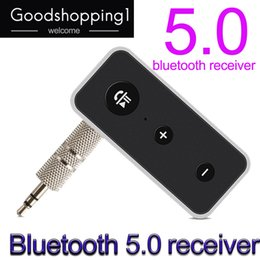 One Two Audio Australia - Bluetooth Receiver 5.0 Stereo 3.5mm Audio Jack AUX Handsfree Wireless Adapter Car Kit Bluetooth Dongle For Headphones DHL free shipping