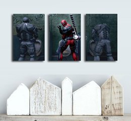 funny frames Australia - Funny Deadpool ,3 Pieces Home Decor HD Printed Modern Art Painting on Canvas (Unframed Framed)