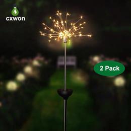 Garden work online shopping - Hot Solar Powered LED Firework Light Leds Leds LED Holiday Decoration String Light with Working Modes Outdoor LED Landscape Light