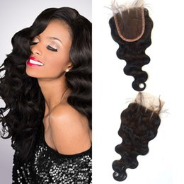 $enCountryForm.capitalKeyWord NZ - 4x4 Indian Human Hair Body Wave Lace Closure Free Middle Part Natural Color Non Processed Free Shipping LaurieJ Hair