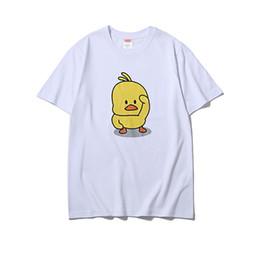 Hot Cotton Brand T Shirts Australia - Box logo fashion Tshirts new men luxury Tshirt high quality cotton casual brand shirt t-shirt hot small yellow duck print trend tee shirt